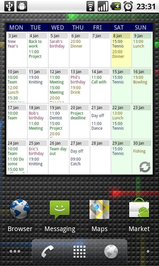 Calendar App Widget Android : Best android contacts widget « me and mobile